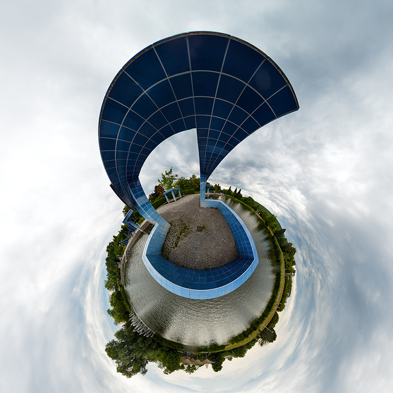 Blue Something als Little Planet von lichttraeumer