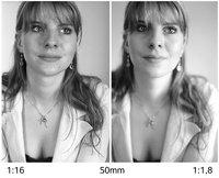 Einfluss der Blende auf die Sch�rfentiefe bei einem Studio-Portrait